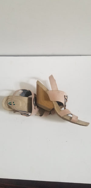 Dr. Scholl's women's sandals taupe strappy leather size 8.5M