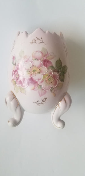 Inarco egg vase pink gold gilt