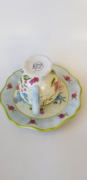 Tracy Porter tea cup and saucer floral