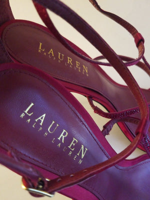 Lauren Ralph Lauren women's shoes red open toe size  8.5 B