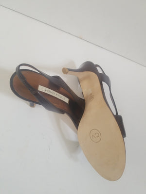 Cynthia Vincent sandals brown leather slingback size 9 M
