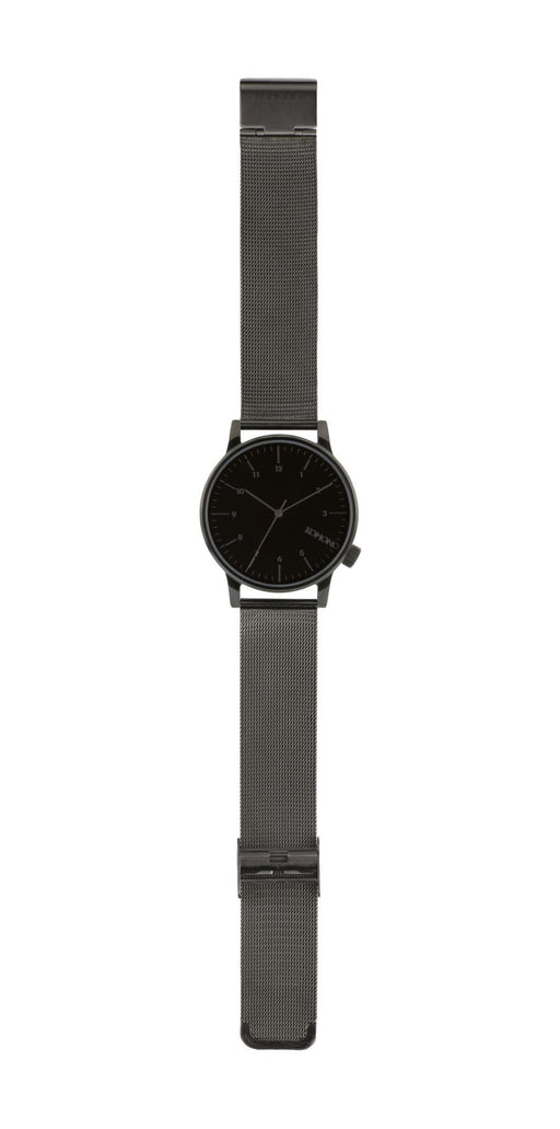 Winston Royale All Black Leather Watch