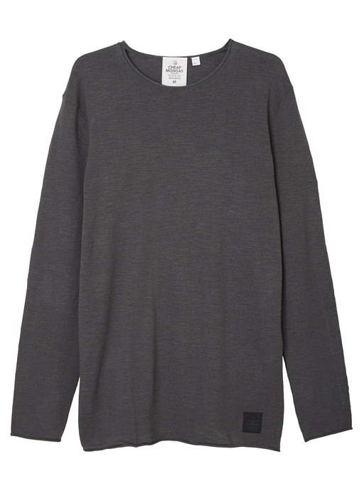 Extended Knit Top in Dark Grey