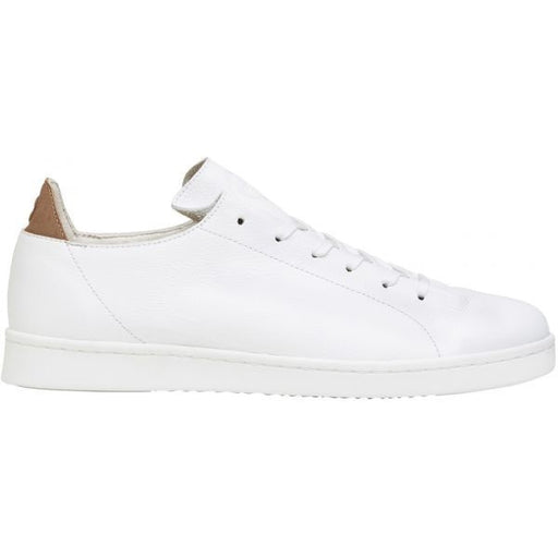 Magne Full Grain Leather Sneakers in White