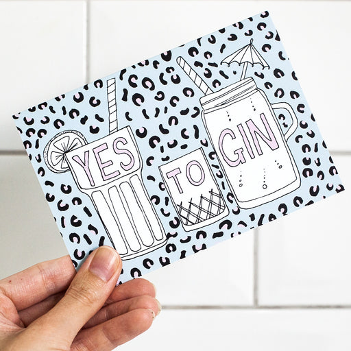 Yes To Gin Card