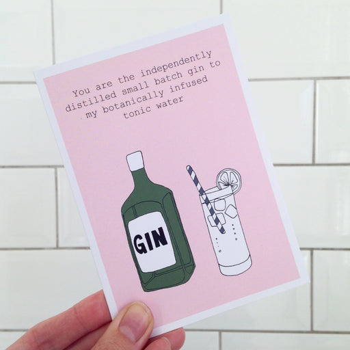 Small Batch Gin Card