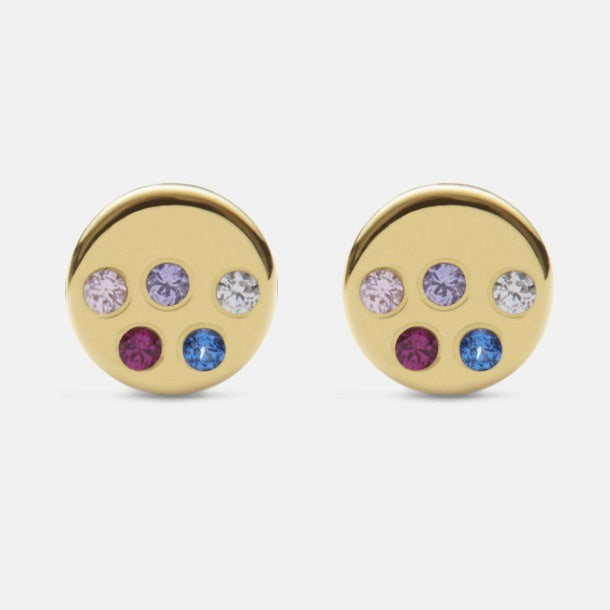 Nova Colour Gold Plated Stud Earrings