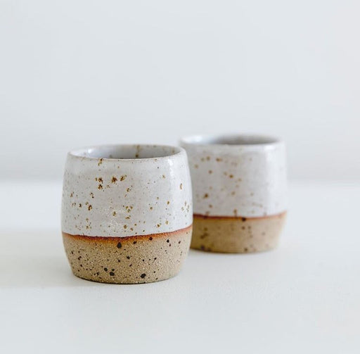 Speckled Espresso Cup Planter Pot