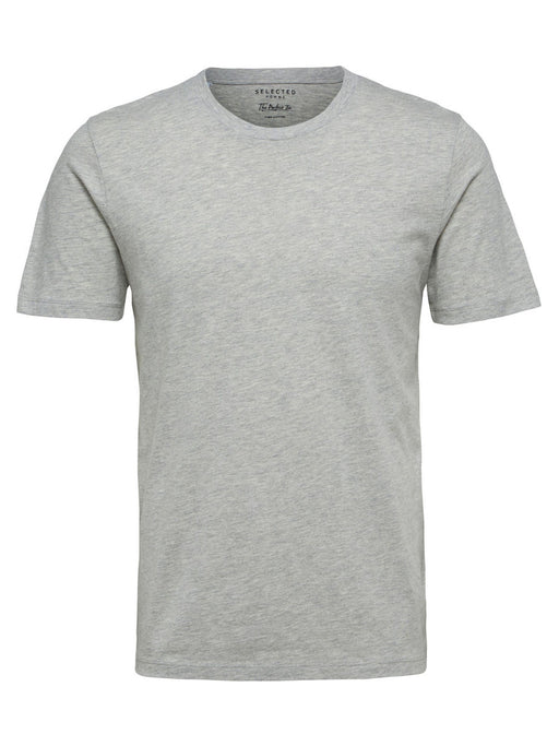 The Perfect Short Sleeve O Neck Tshirt in Light Grey Melange
