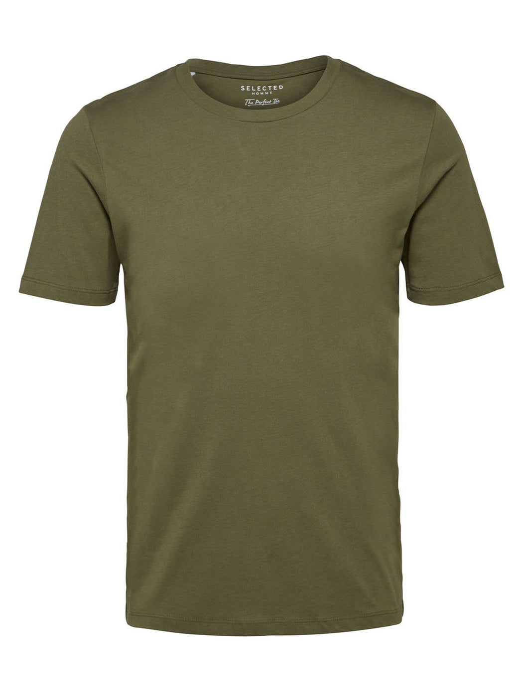 The Perfect Short Sleeve O Neck Tshirt in Dusty Olive
