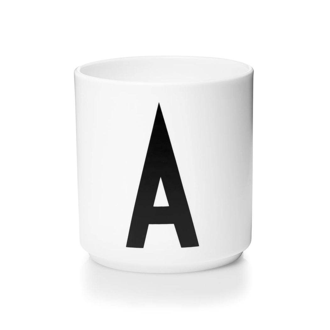 Personal Porcelain Cups in White (A-Z)