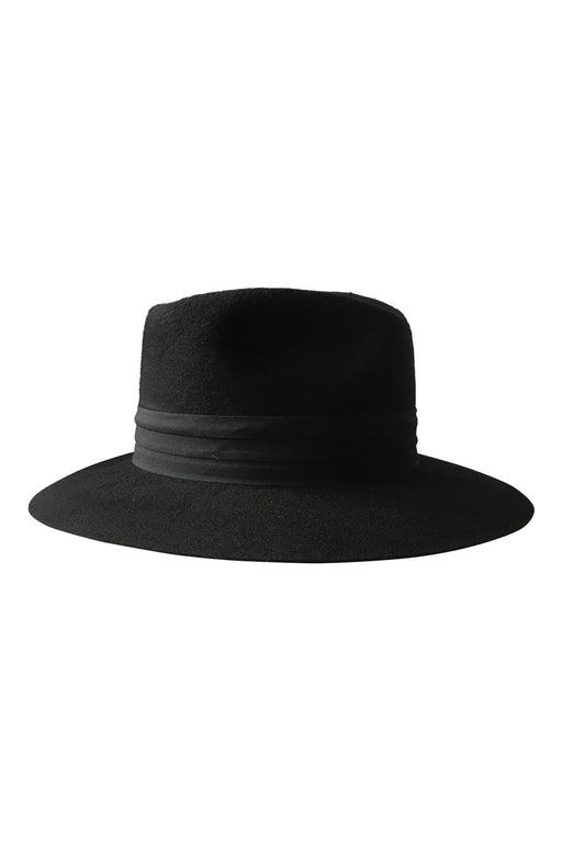 Audrey Wool Fedora Hat in Navy