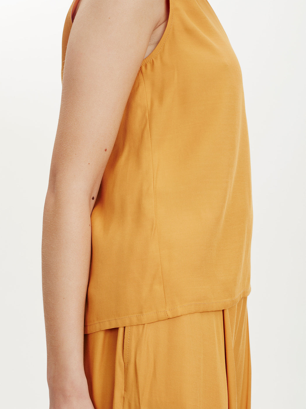Spot Vest Top in Canary Yellow