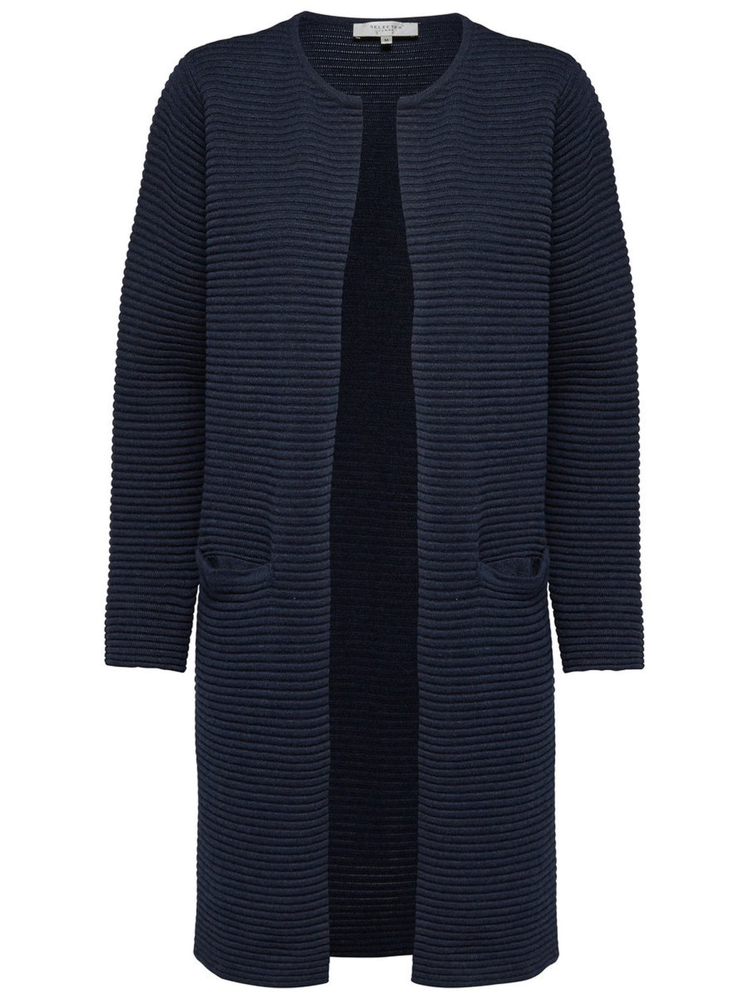 Laua Long Sleeve Navy Cardigan