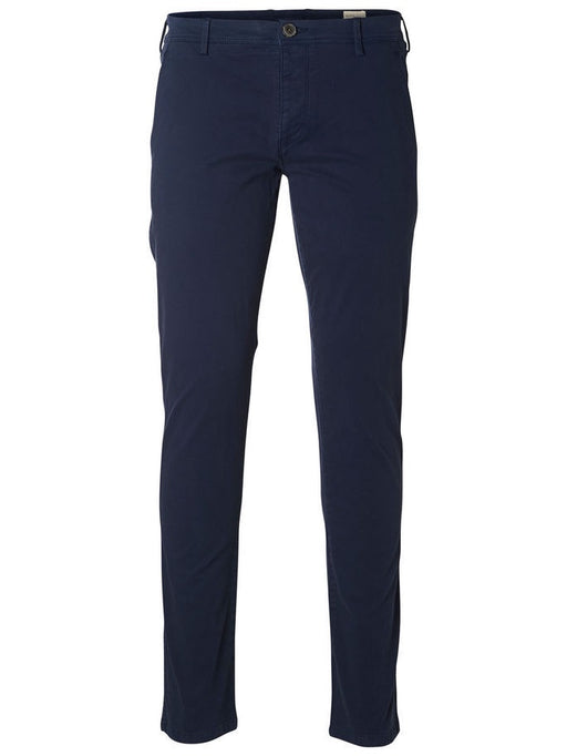 Heritage Luca Navy Straight Chino Trousers