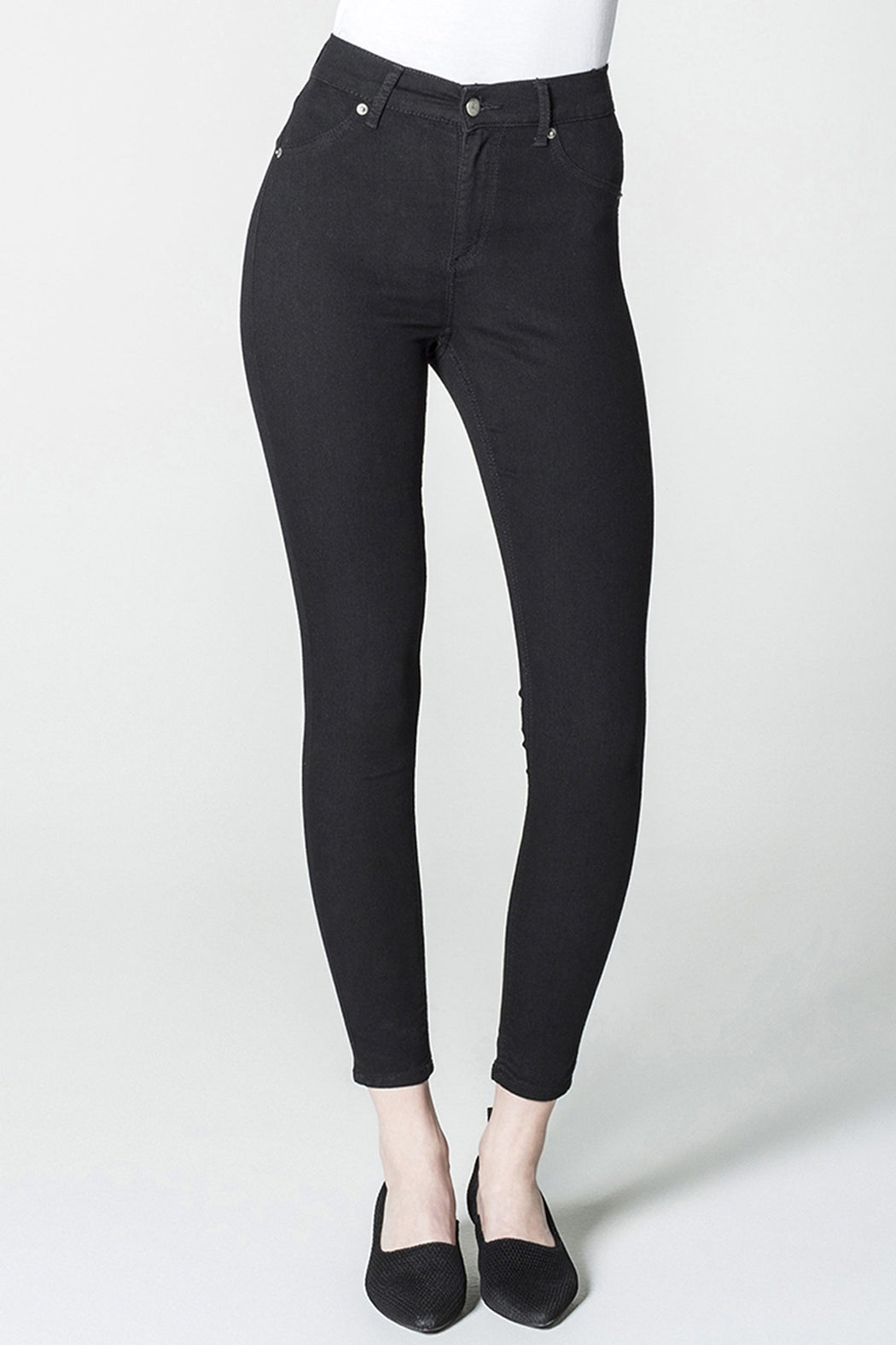 Organic Cotton Black High Spray Skinny Jeans