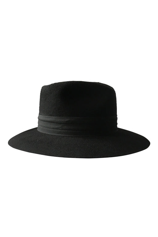 Audrey Wool Fedora Hat in Black