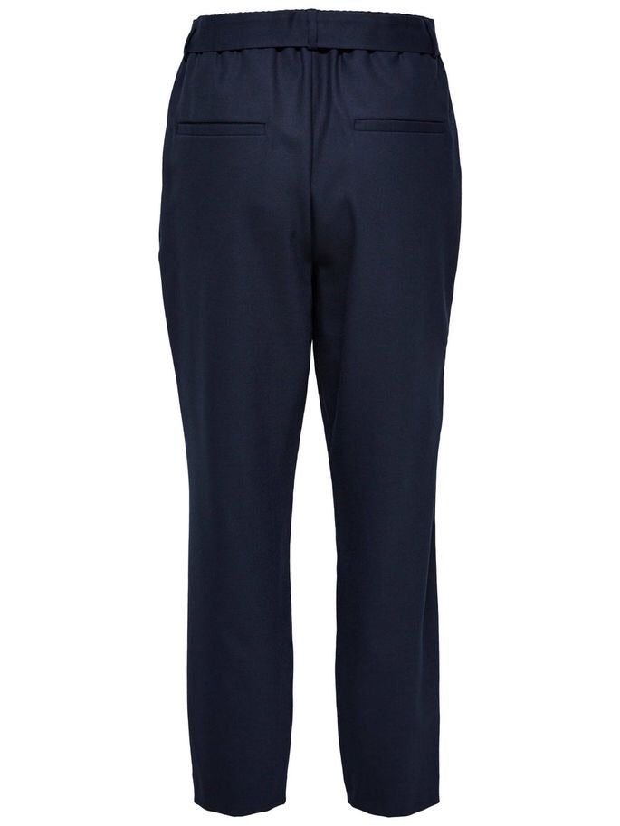 Bio Mid Weight Cropped Wool trousers