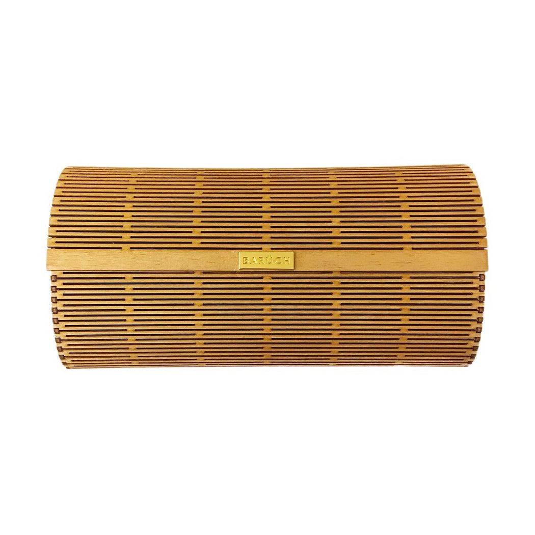 Wooden Laser Cut Clutch Bag