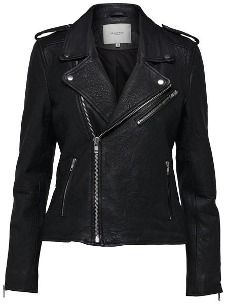 Sandy Leather Biker Jacket
