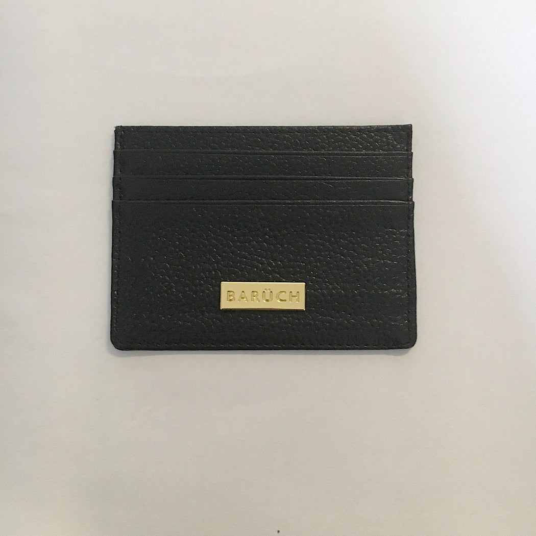 Maha Leather Card Holder in Black