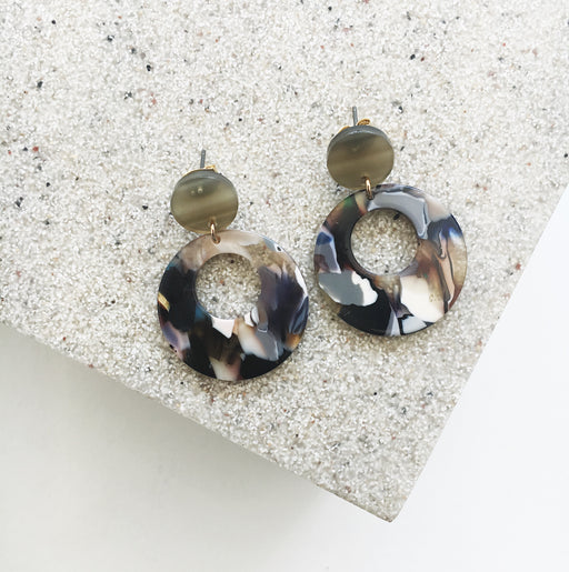 Marley Marbled Statement Resin Earrings