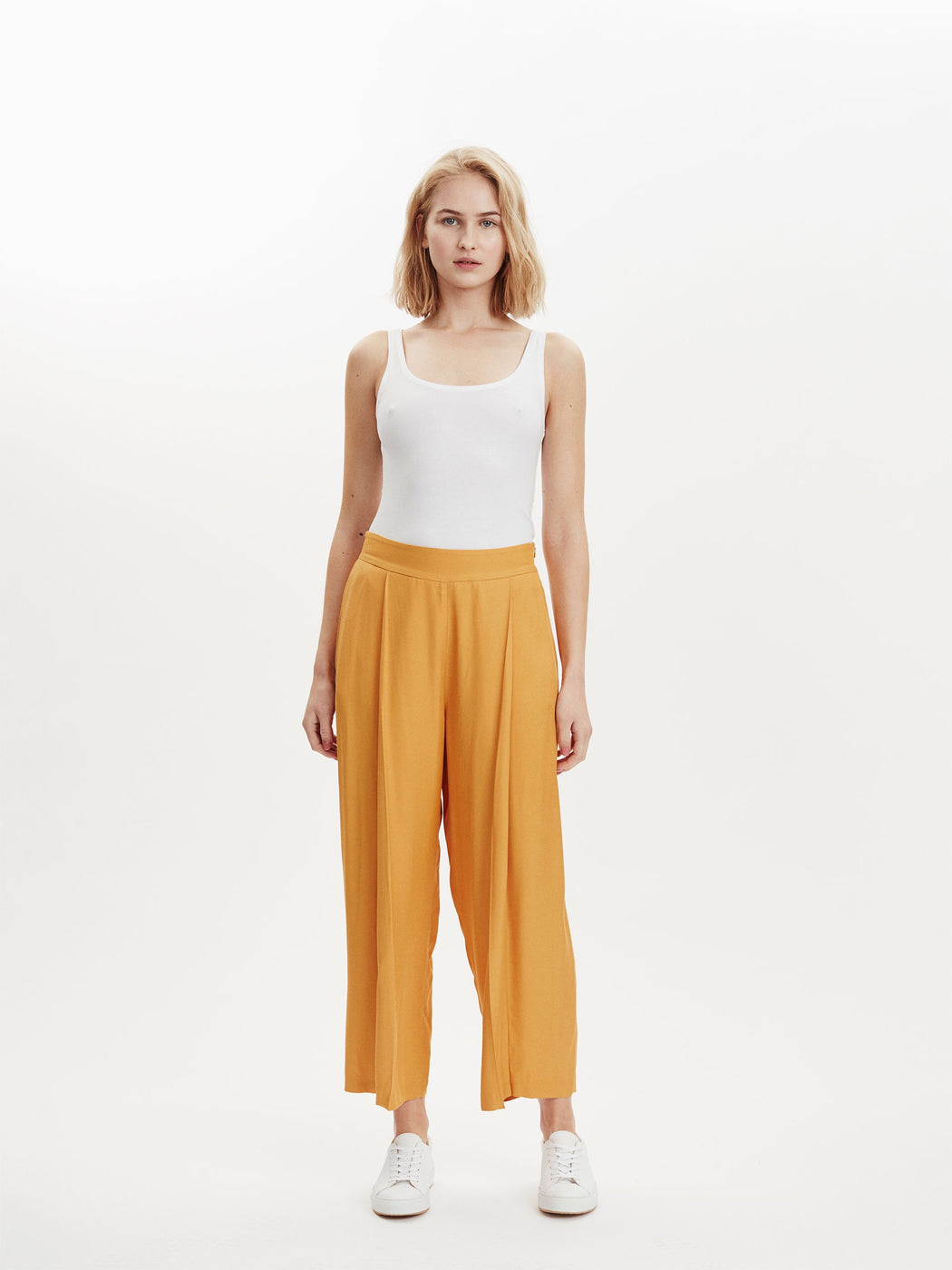 Tour Cropped Trousers in Canary Yellow