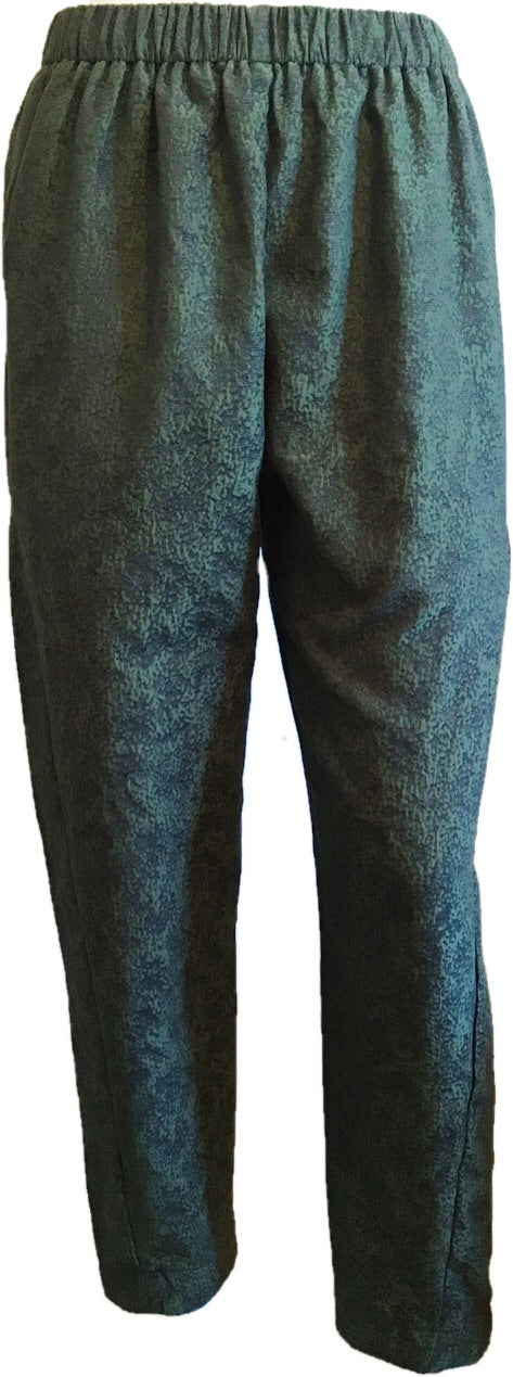 Textured Silk Track Pants