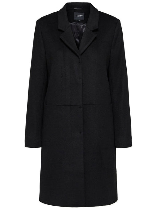 Boa Wool Coat in Black