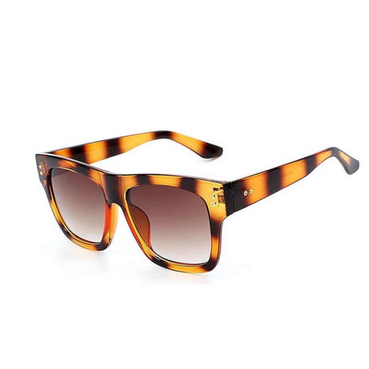 Toby Rectangle Tiger Stripe Sunglasses