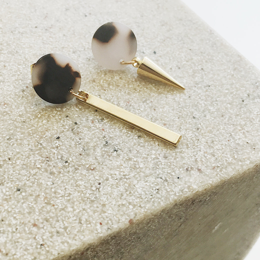 Zuri Mis Matched Stud Earrings