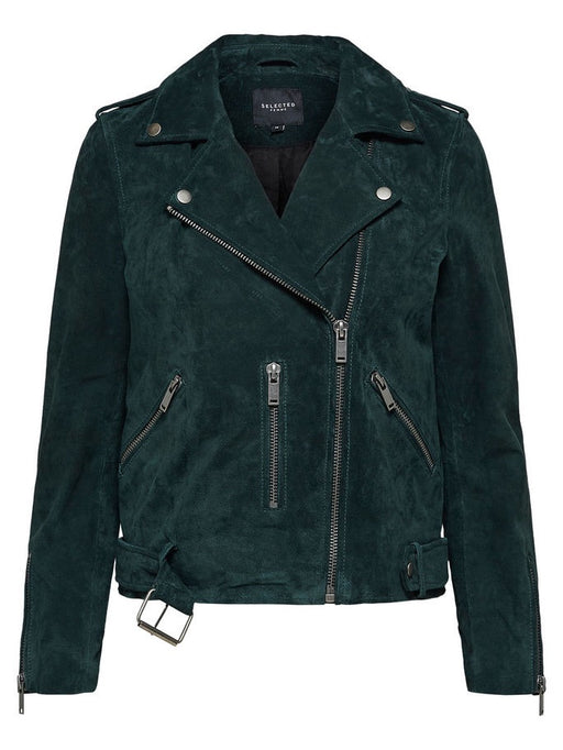 Anella Green Suede Leaather Jacket