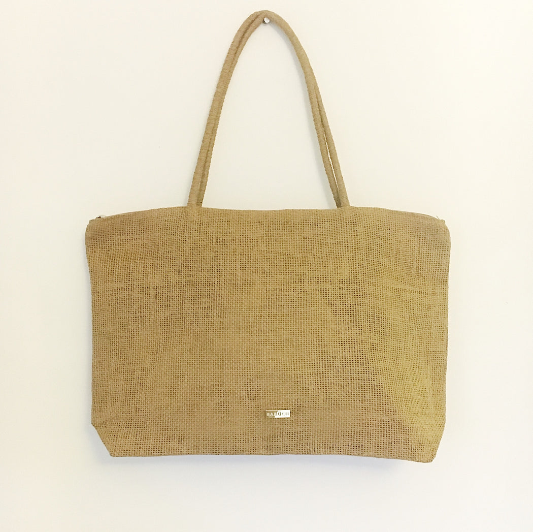 Florence Raffia Tote Bag in Natural