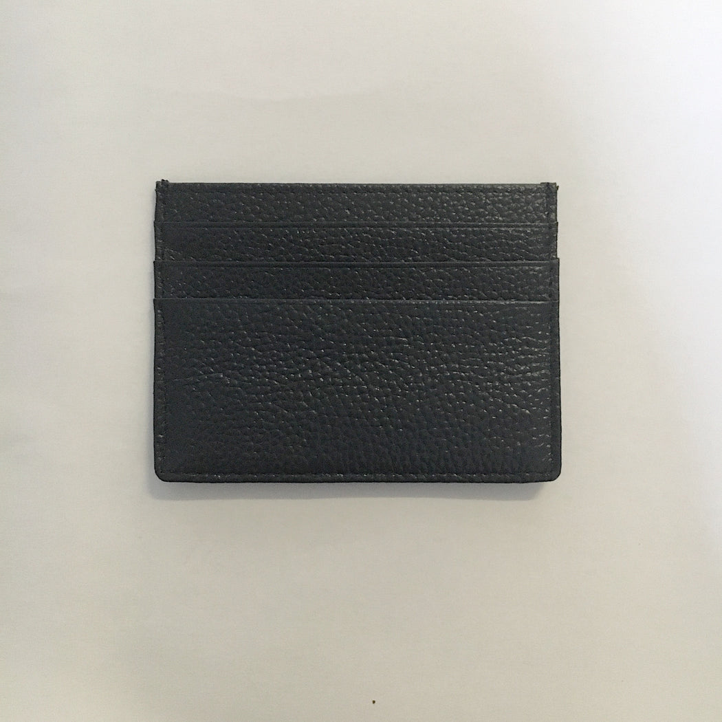 Maha Leather Card Holder in Navy