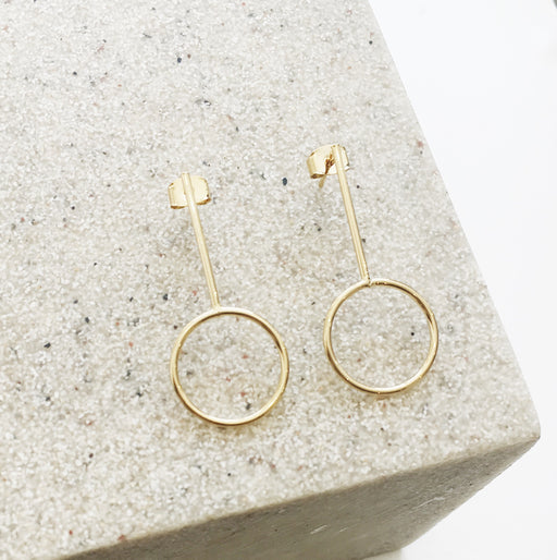 Ava Circle Bar Earrings