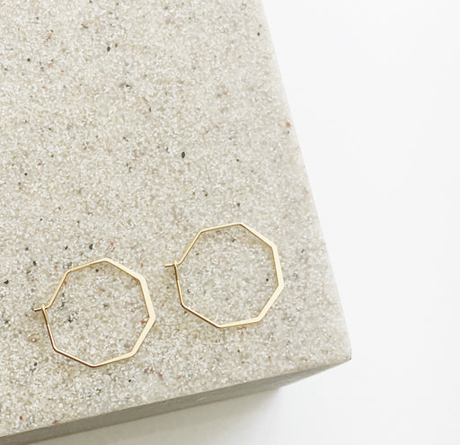 Gold Geometric Hoop Earrings