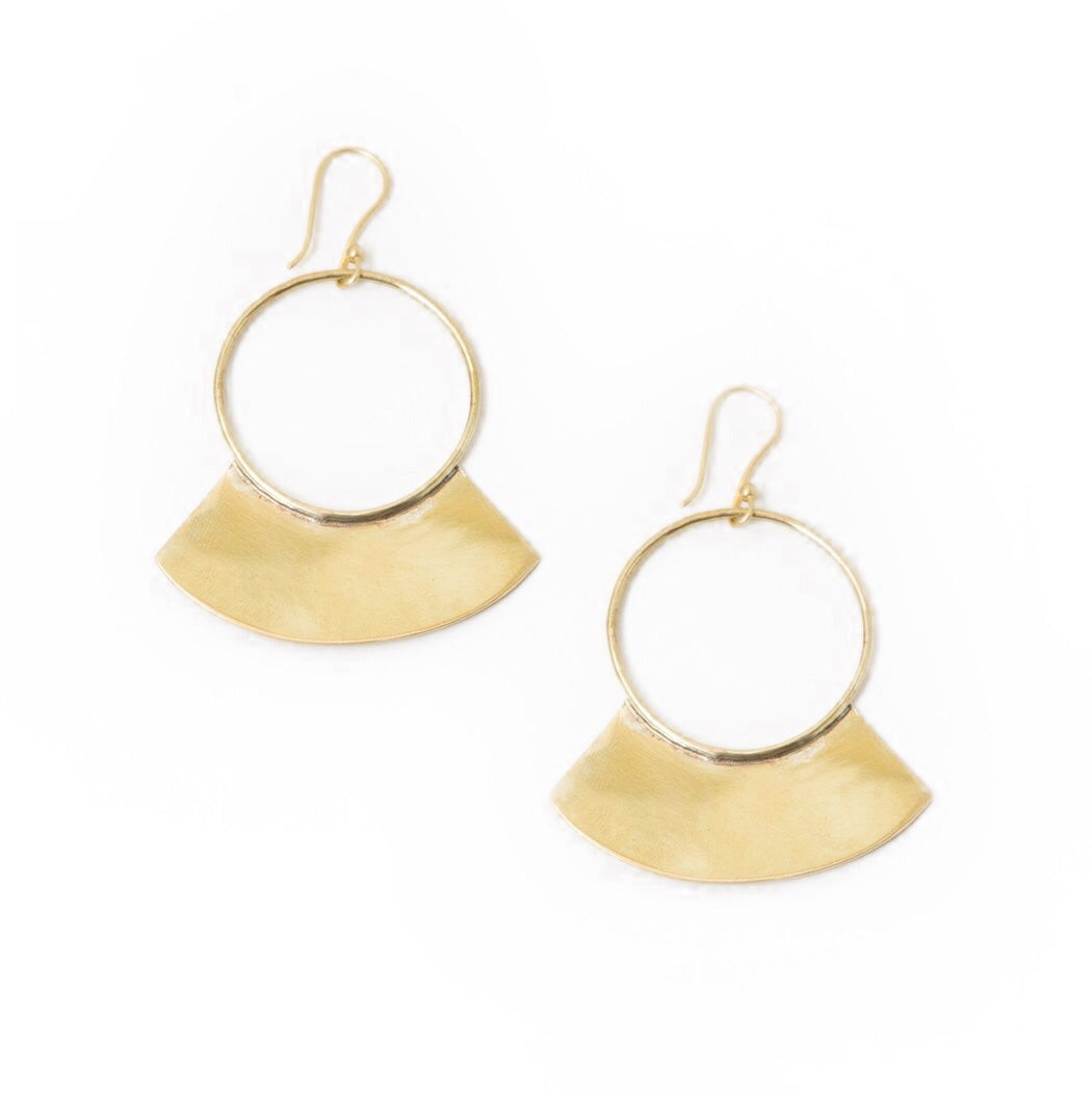Soko Paddle Earrings Brass X0xCms4SeJ
