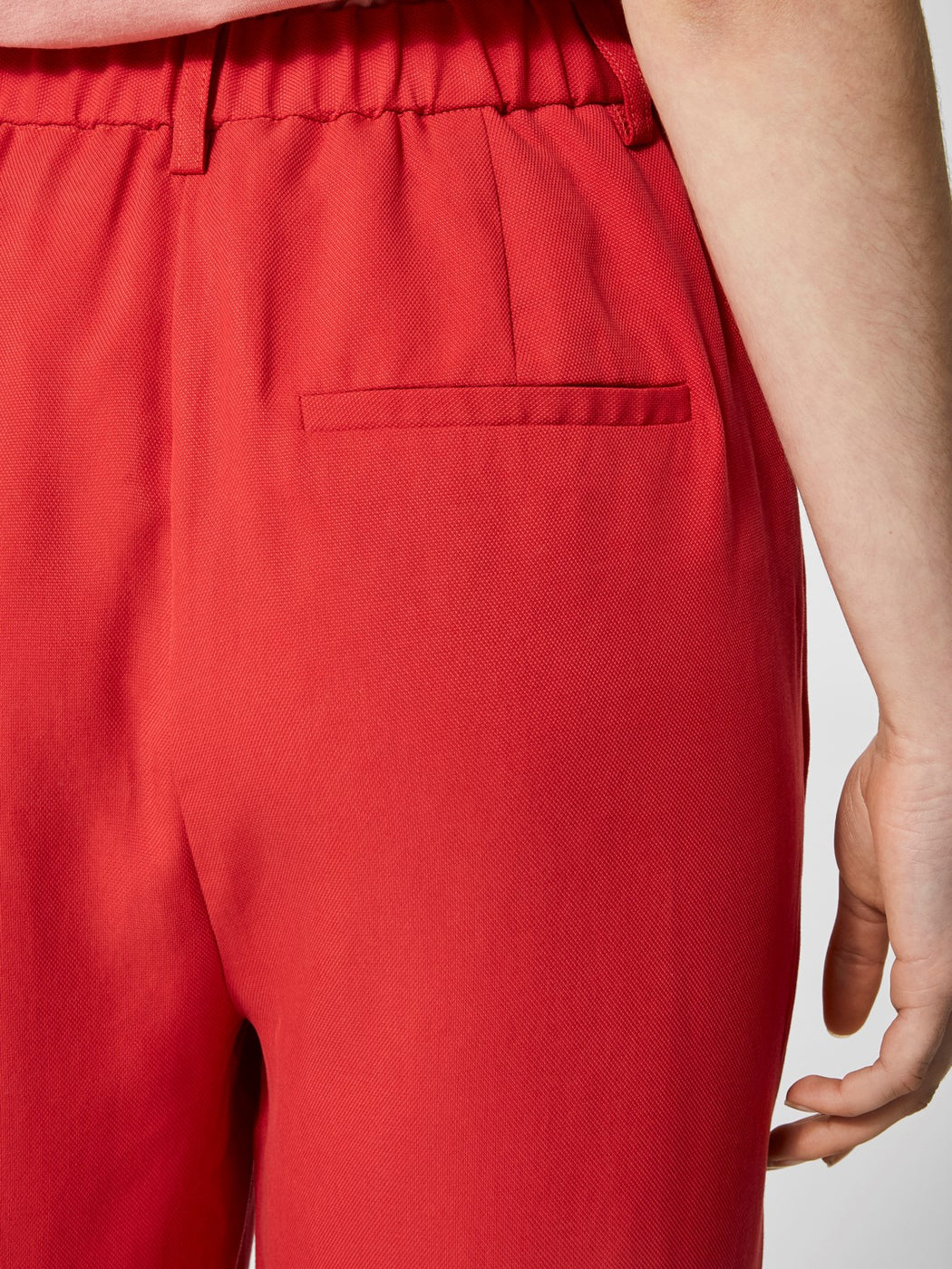 Ravan High Waist Trousers in Lipstick Red