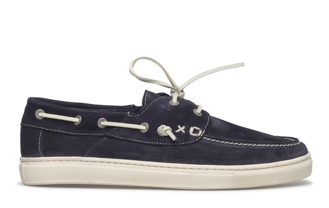 August Navy Suede Boat Shoes
