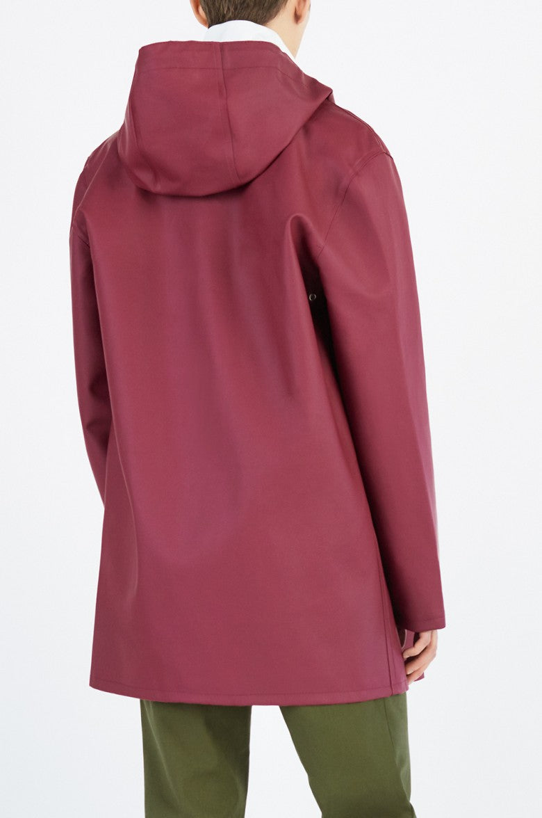Stockholm Rain Coat in Burgundy