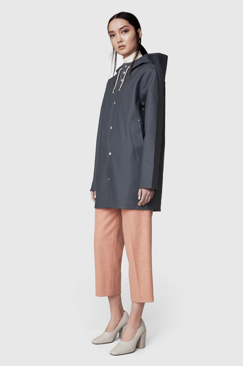 Stockholm Rain Coat in Charcoal
