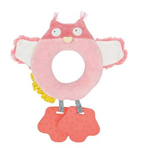 Owl ring rattle toy
