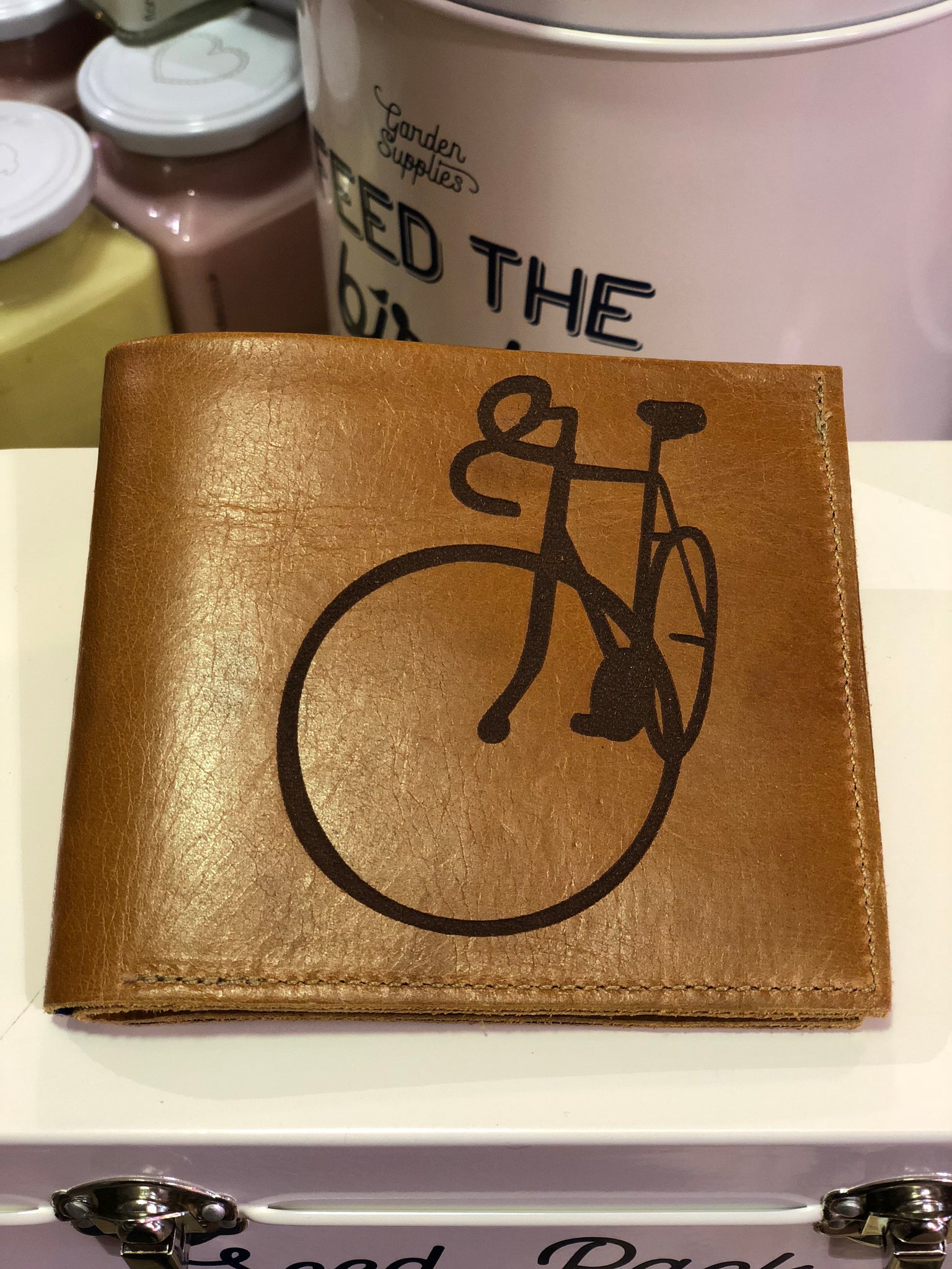 Leather Wallet Bicycle