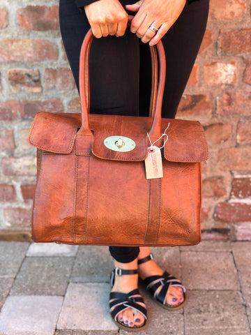 Artisan Tan Leather handbag