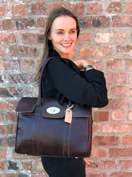 Artisan Chocolate Brown Leather handbag