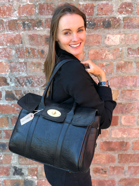 Artisan Black  Leather handbag