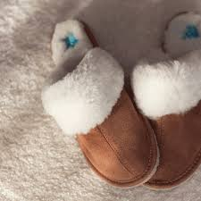 Sheepskin Ladies Slippers Chestnut