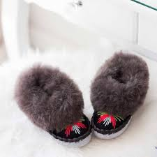 Ladies Slippers Light Grey