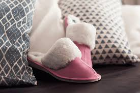 Sheepskin Ladies Slippers Light Pink