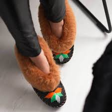 Sheepskin Ladies Slippers Auburn